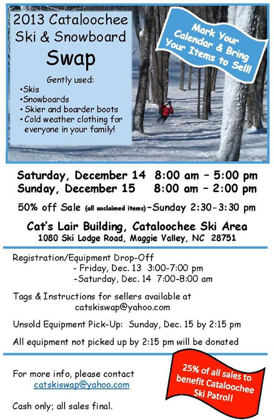 Cataloochee Ski and Snowboard Swap
