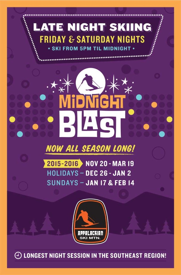 Appalachian Ski Mountain Midnight Blast